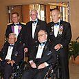 Receipients L-R: Hayashi, Bob Patterson, Ron Rosser & Howard