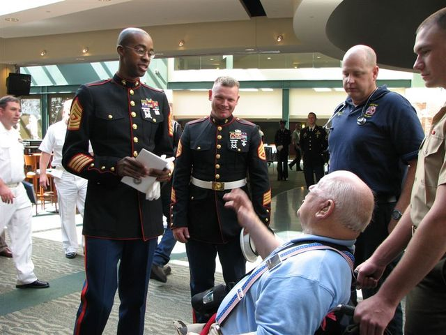 Jack Lucas meets the Troops