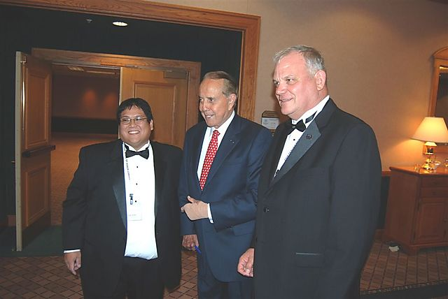 Cliff and Tom With Sen. Dole