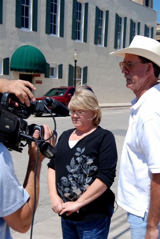 Lynette and Don are interviewed for documentary on our Host City Program