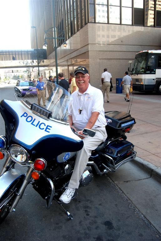 Mikle always gets a pic of him on a cop bike at the convention