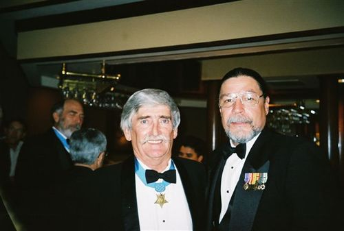 Me and O'Malley... the first Vietnam Marine to recieve The Medal